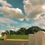 A view of RAF Kenley Memorial in 2000, taken by Grahame Brooks