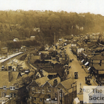 A view of Croydon Rd, Caterham Valley, from St.Johns Tower in the 1920s, from the Roger Packham Collection