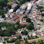A view of Caterham Valley from the air in 2005, taken by Robert Warner