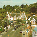 A view of Purley, Surrey in 1985, taken by Grahame Brooks
