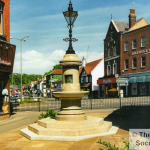 A view of The Restored Asprey Fountain in Caterham Valley